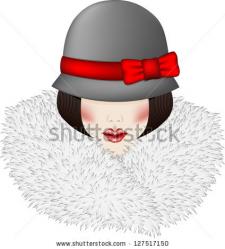 Девушка  с меховым воротником