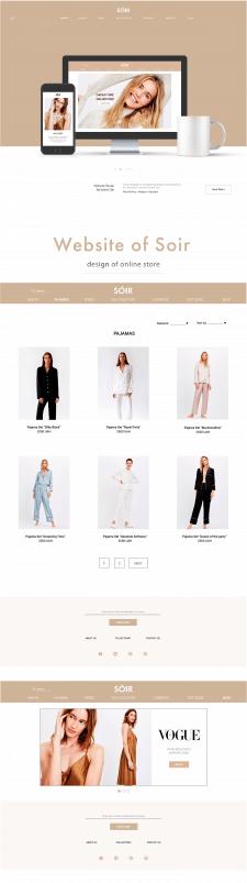 Веб-дизайн бренда Soir