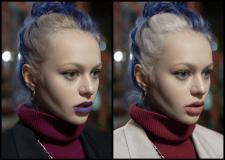 Портретная ретушь + изменение цвета