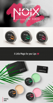 Lip balm labels for NOIX