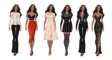 Paper Doll Fashion Illustration
