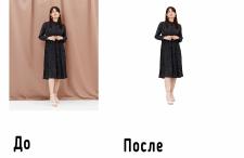Обтравка фона для магазина одежды
