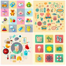 Иконки: Игрушки, Спорт, Медицина, Отпуск
