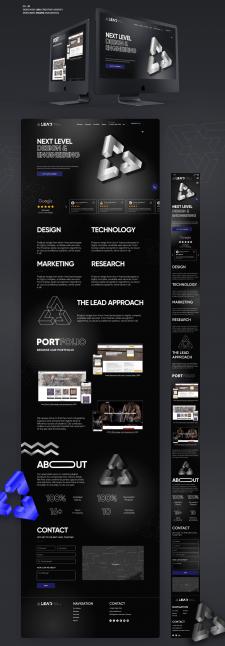 Дизайн сайта для THE LEAD