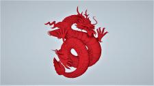 Скульптура дракона для 3Д печати