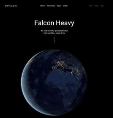 """Верстка сайта """"SpaceX"""""""