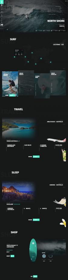 Лендинг сёрф туризм