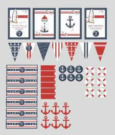 Набор для детского дня рождения в морском стиле