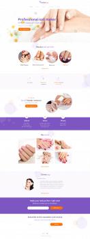 Дизайн сайта для мастера  маникюра