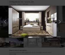 The design of a web-page selling the house