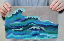 Вышивка море