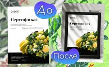 Photoshop | Оформление сертификатов для Stories