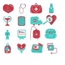 Ілюстрація іконок для медичного додатку