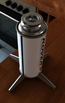 3D модель газового баллона под байонет