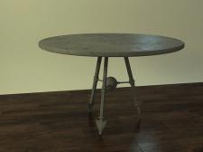 3Д стол стальной