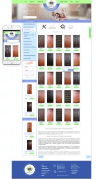 Дизайн сайта для компании по производству дверей