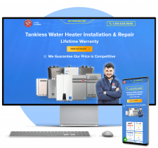 CMS WordPress Сайт компании по ремонту сантехники