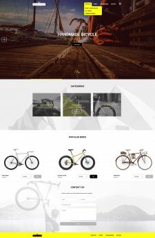 Bike Shop. Верстка страницы homepage.