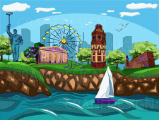 My vision of Mariupol in vector (color)