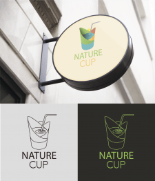 NATURE CUP Logo for natural drinkings shop