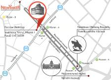 Карта расположения офиса в Праге