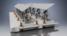Четвертый вариант понтона с солнечными батареями
