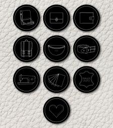 Іконки для магазину в Instagram. Шкіряні сумки та аксесуари