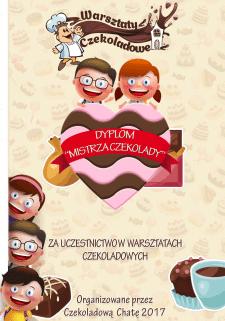 Диплом для победителя шоколадного конкурса в Польш