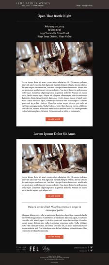 Дизайн и верстка шаблона для email рассылки