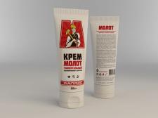 Этикетка для крема Молот