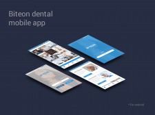 Biteon dental mobile app design