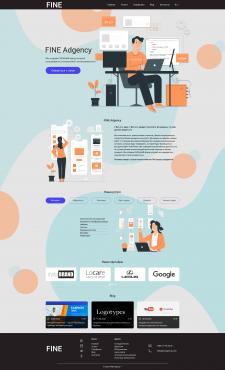 Fine. Advertising company website design