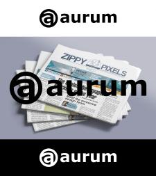 """Логотип для сайта новойстей """"Aurum"""""""