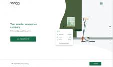 Snagg - Корпоративный сайт+визуальный конструктор