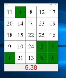 Создание GUI таблиц Шульте с помощью Tkinter