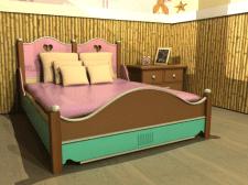 кровать для персонажа