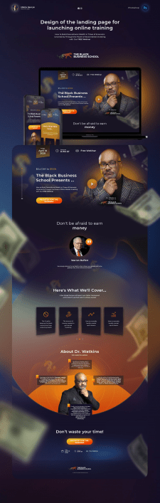 Landing Page Design for Black Business School