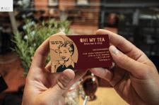 визитка для кафе-чайной