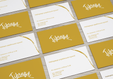 "Business cards for the ""Gorchitsa"" brand"