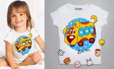 Детская футболка, со сменными картинками