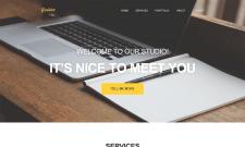 Golden - сайт-визитка для веб-студии