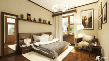 Спальня для молодой семьи в американском стиле