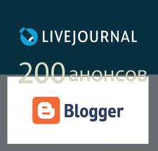 Размещение 200 анонсов статей с сайта в соц. сетях