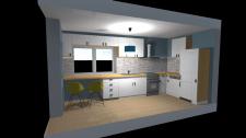 3D модель кухни