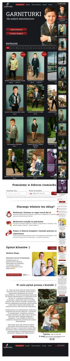 Дизайн для сайта детской одежды