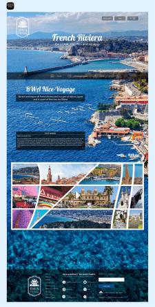 Головна сторінка для туристичного сайту Франції