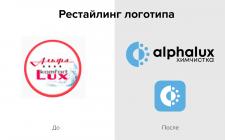 Рестайлинг Логотипа «Alpalux»