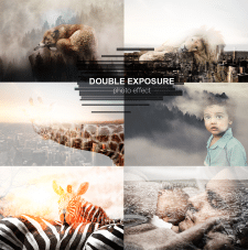 Double exposure photo effect