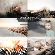 Double exposure photo effect
