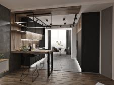 Проект квартиры в стиле лофт